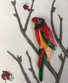 Lea Stein Jewellery - Tropical Parrrot Brooch  by Lea Stein of Paris SOLD